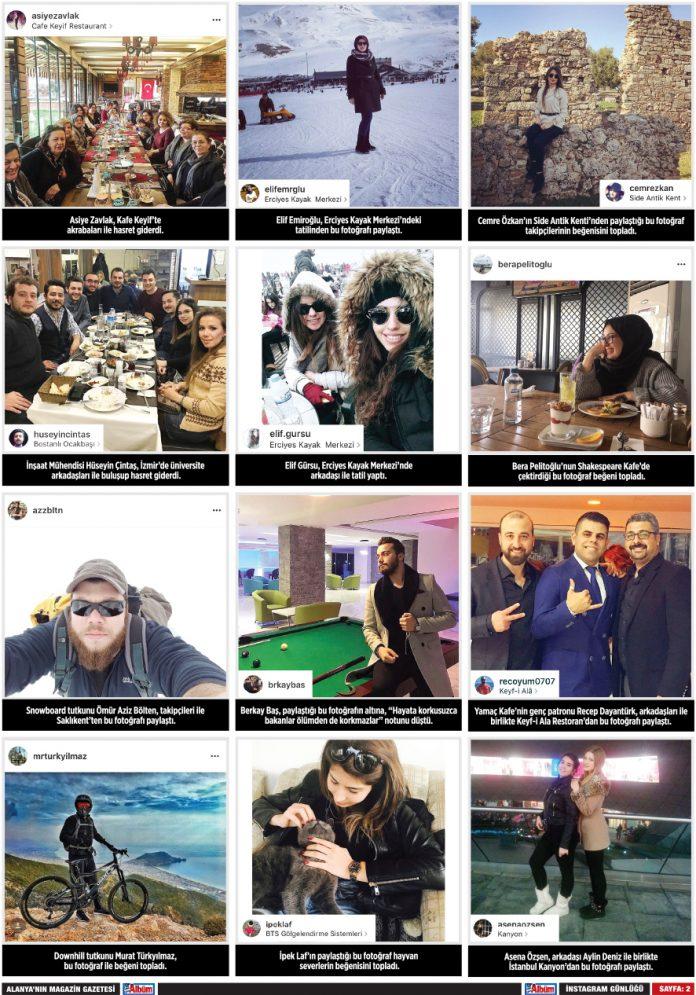 Albüm Gazetesi 445. Sayı Instagram Sayfası