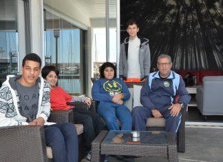 Alanya Yat ve Yelken Kulübü Başkanı Cemal Özdiyar ve sporcular