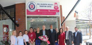 BİL Alanya Koleji'ni BİL Okulları Başkanı ve Aydın Üniversitesi Mütevelli Heyeti Başkanı Mustafa Aydın ziyaret etti
