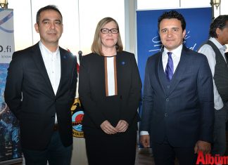 Finlandiya Fahri Konsolosu Kuddusi Müftüoğlu, Finlandiya Ankara Büyükelçisi Paivi Kiaramo, Şükrü Cimrin