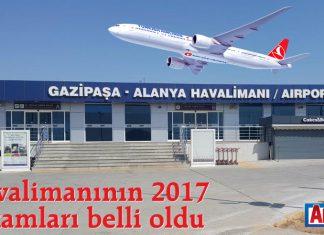 Havalimanının 2017 rakamları belli oldu