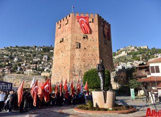 Atatürk'ün Alanya'ya gelişinin 83. yıl dönümü kutlandı