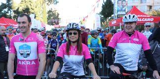 Antalya Büyükşehir Belediyesi Başkanı Menderes Türel farkındalık için pedal çevirdi