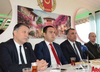 AGC Başkanı Mehmet Ali Dim, Alanya Cumhuriyet Başsavcısı Yasin Emre, Alanya Kaymakamı Mustafa Harputlu, Alanya İlçe Jandarma Komutanı Yarbay Serkan Akbaba