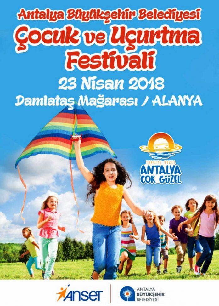 Antalya Büyükşehir Belediyesi, '23 Nisan Ulusal Egemenlik ve Çocuk Bayramı' dolayısıyla Antalya ve ilçelerinde 'Çocuk ve Uçurtma Festivali' düzenleyecek.