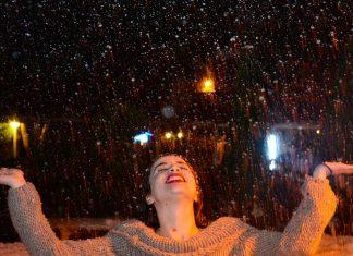 Alanya'da kar altında eğlence