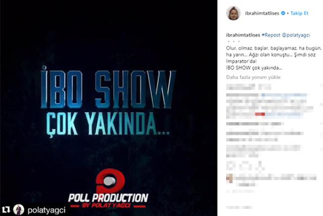 7 sene önce başından vurulan ünlü sanatçı İbrahim Tatlıses, sosyal medya hesabından yıllar sonra İbo Show'la ekranlara geri döneceğinin müjdesini verdi.