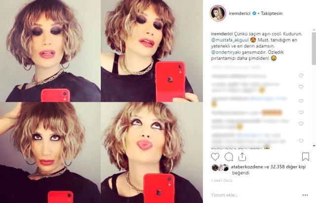 Dansçı sevgilisi Ataberk Özdene ile yaşadığı aşkla gündeme gelen ünlü şarkıcı İrem Derici, saçlarını kısacık kestirerek imaj değiştirdi.
