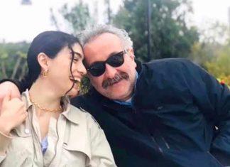 Oyuncu Hazar Ergüçlü, kendisinden 19 yaş büyük yönetmen sevgilisi Onur Ünlü'yle aşk pozu verdi.
