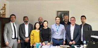 Alanya Gazeteciler Cemiyeti Başkanı Gaye Coşkun ve Yönetim Kurulu üyeleri, Özel Alanya Anadolu Hastanesi Genel Müdürlüğü görevine atanan Uzm. Dr. Hasan Peksel'i makamında ziyaret etti.