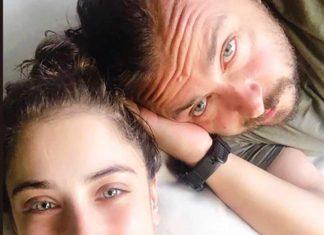 Ali Atay'la evlenen ve geçtiğimiz günlerde sosyal medya hesabından hamile olduğunu duyuran Hazal Kaya'dan eşiyle aşk pozu geldi.